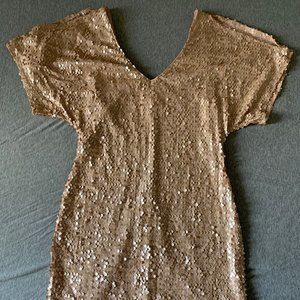 Kirra Sequin Cold Shoulder and Bodycon Dress